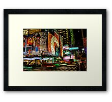 Broadway Lights Framed Print