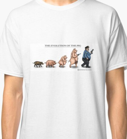 The Evolution Of The Pig Classic T-Shirt