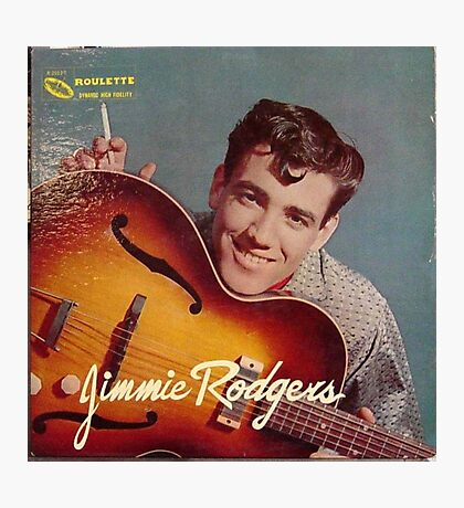 Jimmie Rodgers, ROCKABILLY cvr Photographic Print
