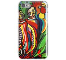 African Traditional Tribal Women Abstract Art Canvas Painting for Women, Girls, Ladies, Kids 2 iPhone Case/Skin