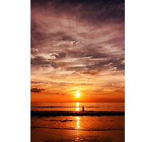 Epic sunset at the sea coast Photographic Print