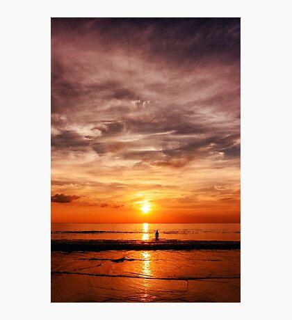Epic sunset at the sea coast Photographic Print