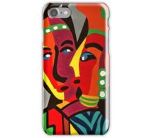 African Traditional Tribal Women Abstract Art Canvas Painting for Women, Girls, Ladies, Kids 4 iPhone Case/Skin
