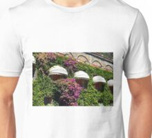Windows with canopy on a green ivy facade Unisex T-Shirt