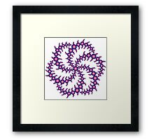 Double Six Sided Triskelion Crop Circle Framed Print