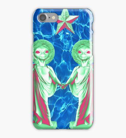 Duo Alien Jesus iPhone Case/Skin