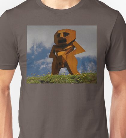 Rusty Man, Sculptures By The Sea, Australia 2010 Unisex T-Shirt