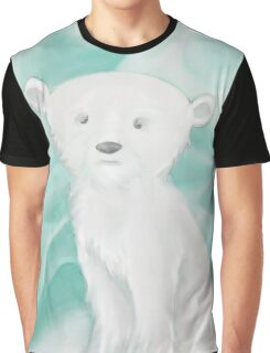 Seasonal Polar Bear On Iceburg in Winter Graphic T-Shirt