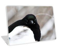 Black Billed Magpie Laptop Skin