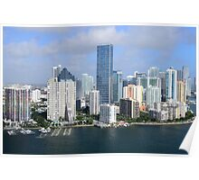 Miami: Downtown Skyscrapers Poster