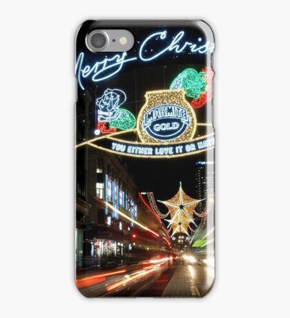 Christmas in London iPhone Case/Skin