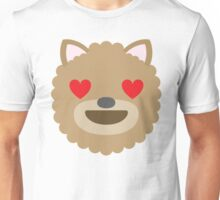 Emoji Dog with Heart and Love Eyes Unisex T-Shirt