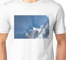God Rays - Soft Clouds and Radiating  Sunbeams Unisex T-Shirt