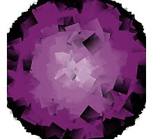 crumpled purple tissue Photographic Print