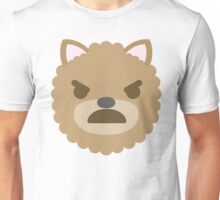 Emoji Dog Angry and Mad Look Unisex T-Shirt