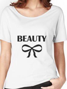 BEAUTY  HEIDI   BLACK Women's Relaxed Fit T-Shirt