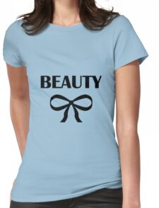 BEAUTY| HEIDI | BLACK Womens Fitted T-Shirt