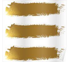 Gold Brush Poster