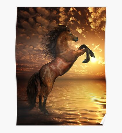Freedom - Rearing Horse Artwork Poster