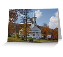 NEW ENGLAND, U.S.A. Walk to Church !! Greeting Card