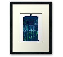 Wibbly Wobbly Timey Wimey Tardis - Doctor Who  Framed Print