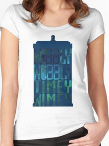 Wibbly Wobbly Timey Wimey Tardis - Doctor Who  Women's Fitted Scoop T-Shirt