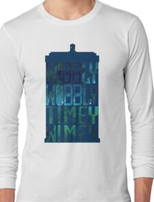 Wibbly Wobbly Timey Wimey Tardis - Doctor Who  Long Sleeve T-Shirt