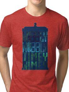 Wibbly Wobbly Timey Wimey Tardis - Doctor Who  Tri-blend T-Shirt