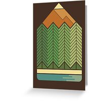 Drawing Mountains Greeting Card