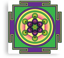 Metatron's Cube Mandala Canvas Print