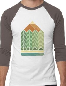 Drawing Mountains Men's Baseball ¾ T-Shirt