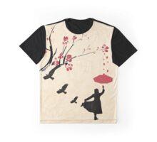 Cherry Blossom Girl Graphic T-Shirt