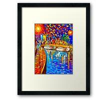 River Side Scene Framed Print
