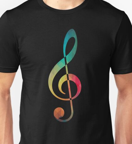 Rainbow pattern note Sol silhouette Unisex T-Shirt