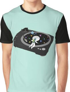 Space Record Player Graphic T-Shirt