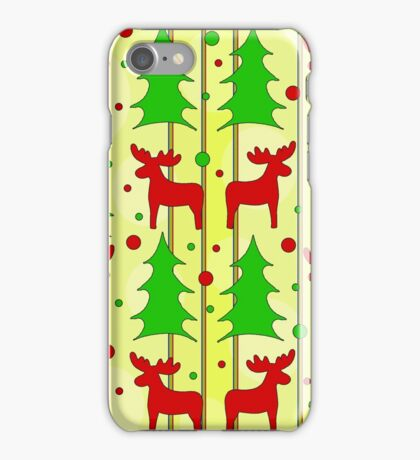 Reindeer Xmas pattern iPhone Case/Skin
