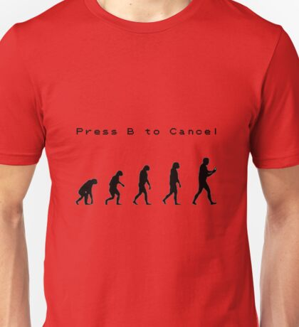 Press B to Cancel - Gameboy Unisex T-Shirt