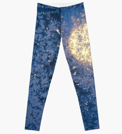 blue frosted moon Leggings