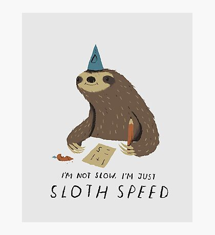 sloth speed Photographic Print