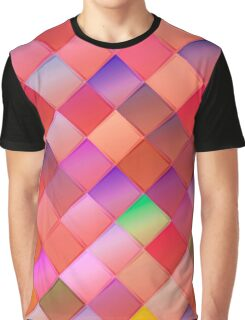 Pattern with pink squares.Trendy hipster print. Modern graphic design. Graphic T-Shirt