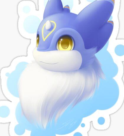 Mika: A portrait of fluff (transparent bg) Sticker