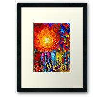 Oil Colours Framed Print