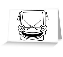 Tiny Bus Greeting Card