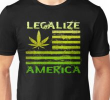 Legalize America Marijuana Pot Leaf Unisex T-Shirt