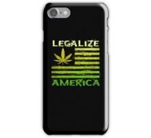 Legalize America Marijuana Pot Leaf iPhone Case/Skin