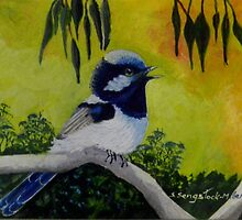 Among the Gum trees (sold 12-9-2014) by Sandra  Sengstock-Miller