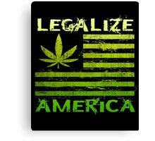 Legalize America Marijuana Pot Leaf Canvas Print