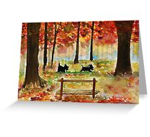 Scottie Dogs The Four Seasons 'Autumn' Greeting Card