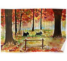 Scottie Dogs The Four Seasons 'Autumn' Poster
