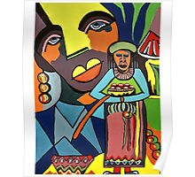 African Traditional Tribal Women Abstract Art Canvas Painting for Women, Girls, Ladies, Kids 6 Poster